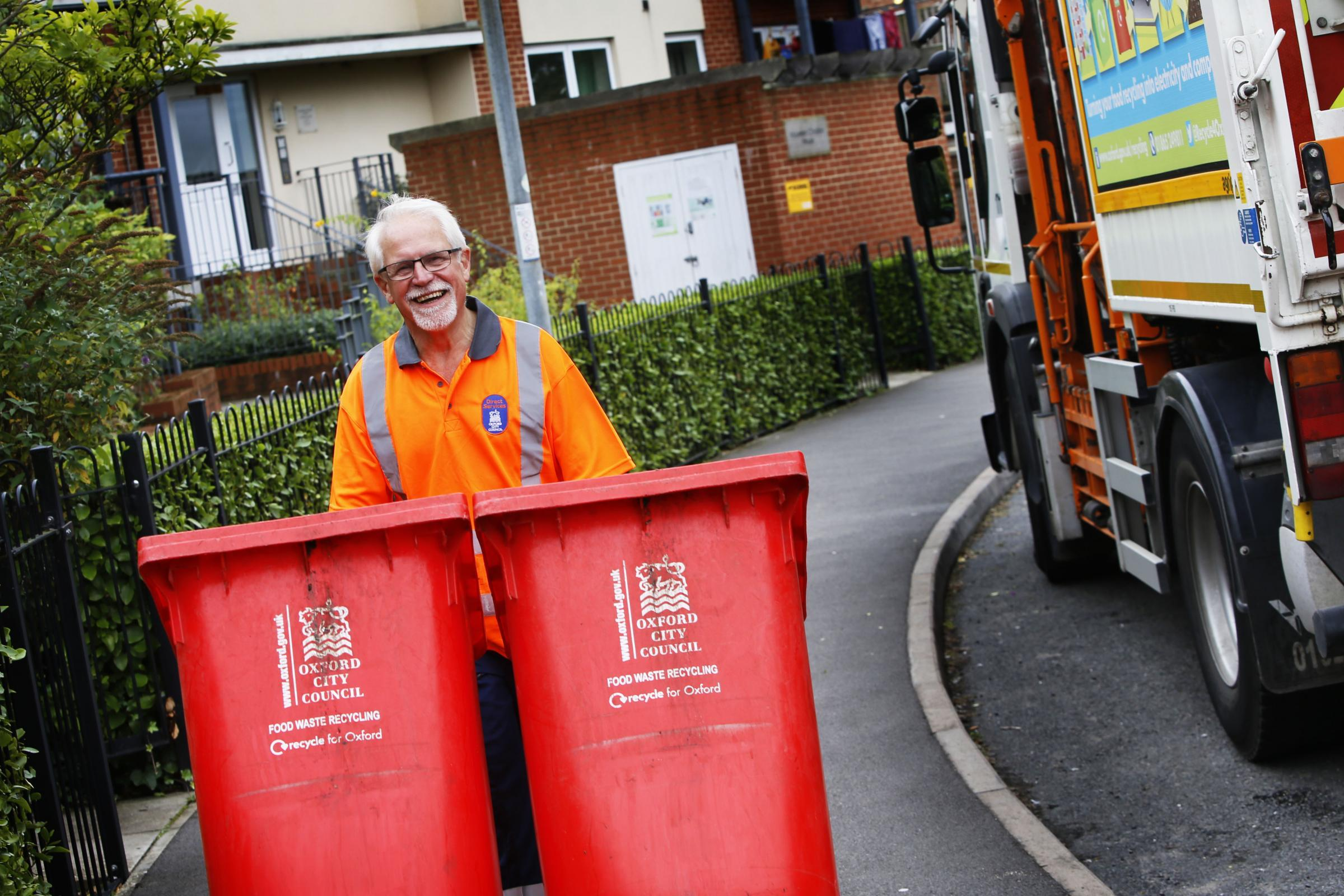 Diving for answers in Oxford bins: Councillor John Tanner tries to find out why Oxford don't recycle more food